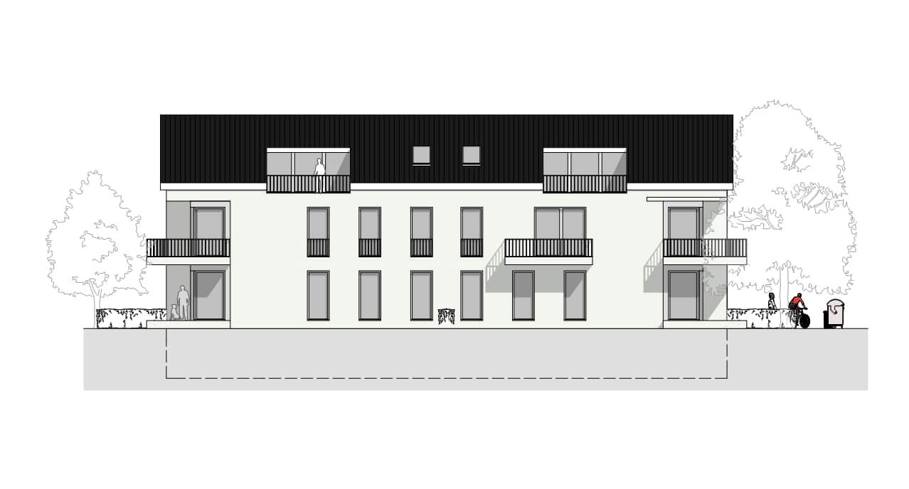 Wohnhaus-Froben-A-03-Ansicht-Süd-West